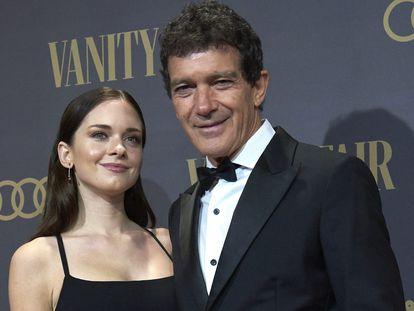 Antonio Banderas junto a su hija Stella del Carmen, en Madrid el pasado noviembre.