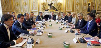 Los ocho jefes de Gobierno europeo socialistas.
