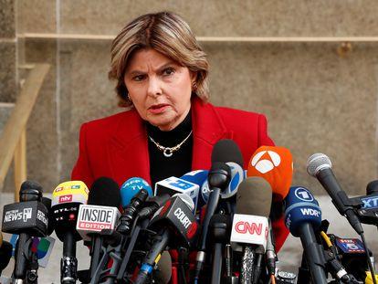 Gloria Allred, tras el veredicto contra Harvey Weinstein el pasado febrero en Nueva York.