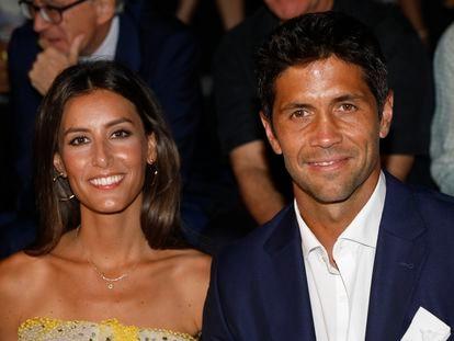 Ana Boyer y Fernando Verdasco en un desfile de moda en Madrid en julio de 2018.