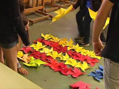 Un aula catalana deberá enseñar en castellano si un alumno lo pide