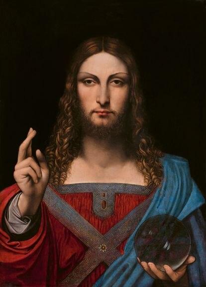 Versión Ganay del 'Salvator Mundi', atribuido al discípulo de Leonardo.