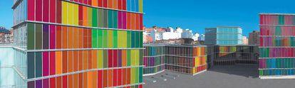 Una vista general de los edificios del nuevo Museo de Arte Contemporáneo de Castilla y León (Musac), en León realizado por Luis Moreno Mansilla y Emilio Tuñón.