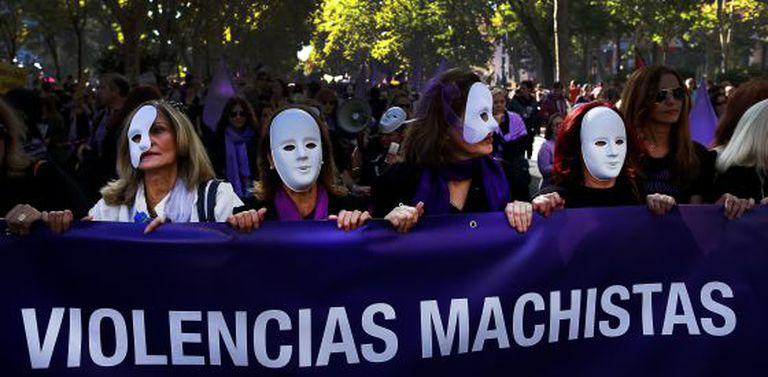 Una manifestación contra la violencia machista.