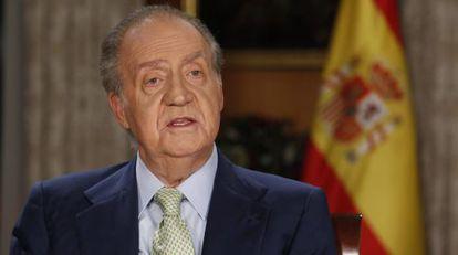 El Rey Juan Carlos durante el tradicional mensaje de Navidad.