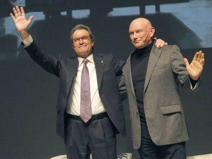 Artur Mas y Ibarretxe en el Kursaal, en San Sebastián.