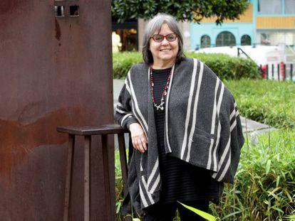 Diamela Eltit, escritora chilena, en el Azkuna Zentroa de Bilbao.