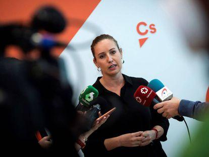 La portavoz de la Comisión Gestora de Ciudadanos, Melisa Rodríguez.