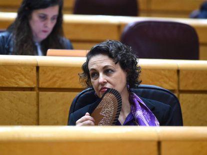 La ministra de Trabajo, Magdalena Valerio, este martes en el Senado.