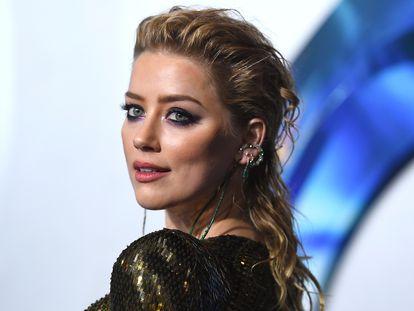 Amber Heard, en el estreno de 'Aquaman', en diciembre de 2018 en Los Ángeles, California.