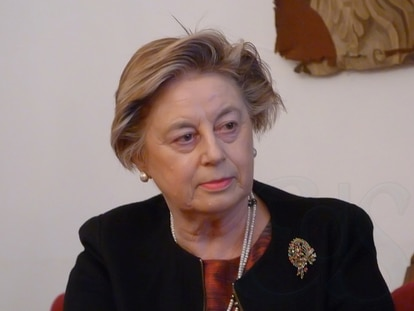 Josefina Cuesta dictando la conferencia 'Unamuno y la mujer', en la Casa Unamuno de la Universidad de Salamanca, 7 de marzo de 2017.