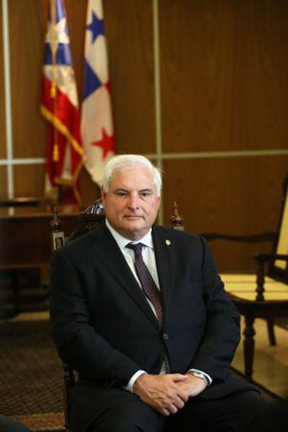 El presidente de Panamá, Ricardo Martinelli.