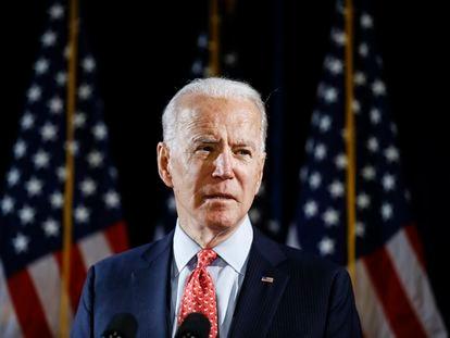 El candidato demócrata, Joe Biden, en un evento el pasado 12 de marzo.