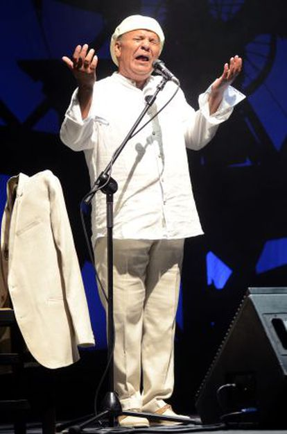 El Pele, durante su concierto.