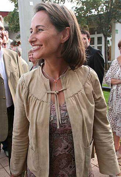 Ségolène Royal, en una visita a una guardería en Dijon el sábado.