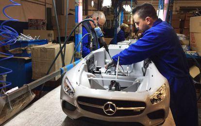 Exposición de juguetes de la marca Injusa, empresa que exporta el 80% de su producción.