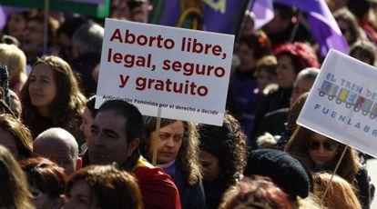 El tren de la libertad llega a Madrid contra la Ley del aborto de Gallardón
