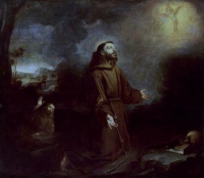 El óleo Estigmatización de san Francisco (1675-1680), de Murillo.