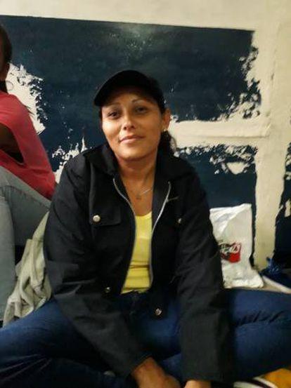 Rosa Maribel Gómez, el pasado miércoles en la terminal de La Bandera.