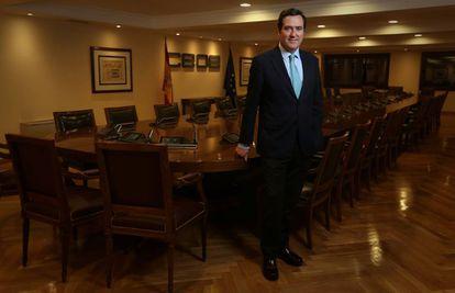 El presidente de ls CEOE, Antonio Garamedi.