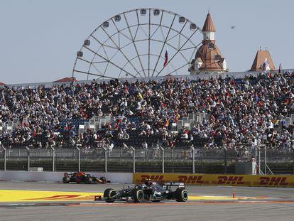 Valtteri Bottas durante el Gran Premio (que ganó) de Rusia en Sochi.