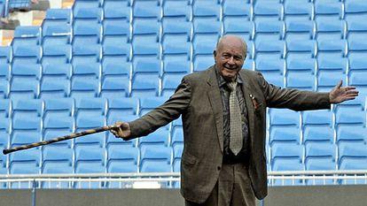Alfredo di Stéfano, en el Bernabéu en agosto de 2007