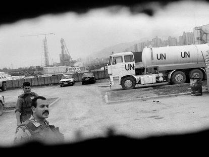Sarajevo 1993, cuarteles generales de la ONU.