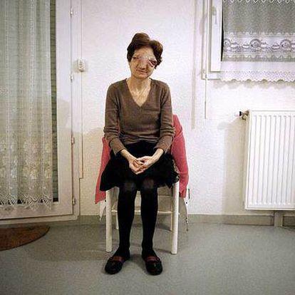 Chantal Sébire, el pasado febrero en su domicilio.