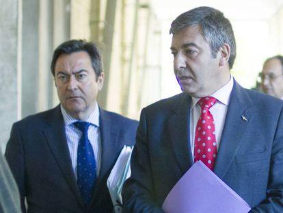 Dos representantes de la Fiscalía Anticorrupción en Sevilla.