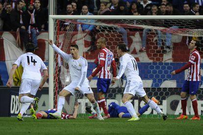 Cristiano Ronaldo celebra el gol del empate.