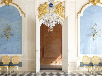 Galería azul del palacio Sanssouci de Potsdam. |