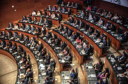 El Senado mexicano en la inauguración de la legislatura.