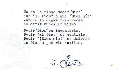 Uno de los poemas inéditos de Bergamín.