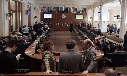 El Consejo Permanente de la OEA este lunes.