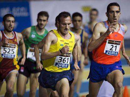 Arturo Casado, a la derecha, en el Campeonato de España de 2014.