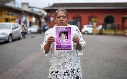 La señora María del Carmen Sánchez en Coatepec