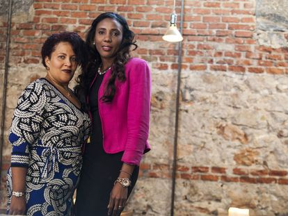 Las abogadas dominicanas Jenny Morón y Rosa Iris Diendomi
