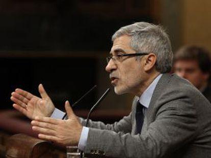 Intervención de Gaspar Llamazares (IU) en el Congreso en diciembre.