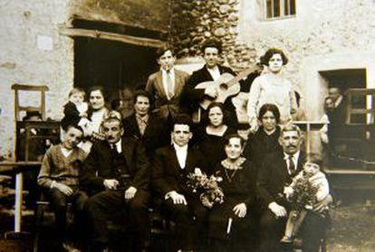 La familia de Emma morano en los primeros años del siglo XX.