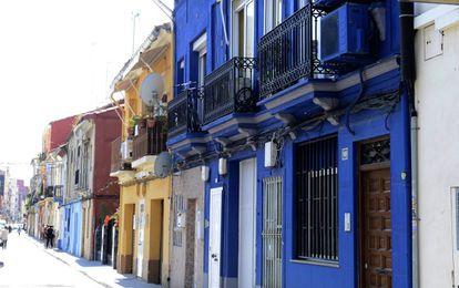Otra de las zonas del barrio valenciano.