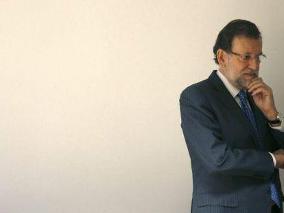 El presidente español, Mariano Rajoy, este jueves en Bruselas.