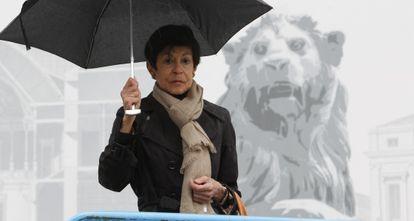 Consolación Baudín de la Lastra, herida en una manifestación de mineros en julio de 2012, fotografiada en una calle de Madrid el pasado viernes.