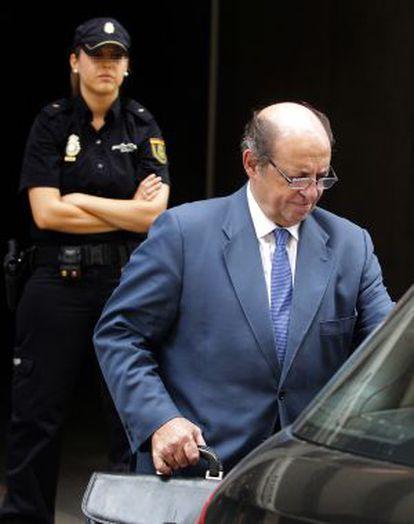 José Antonio Díaz Villanueva, a su salida de la Audiencia.