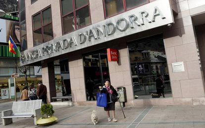 Una sucursal de la Banca Privada d'Andorra, en marzo de 2015.