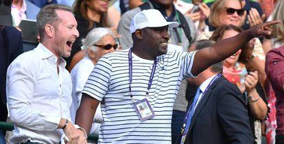 Corey Gauff, padre de la tenista, celebra el triunfo contra Serena Williams.