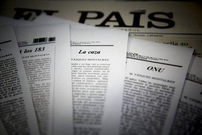 Artículos de opinión de Manuel Vázquez Montalbán publicados en la contraportada de EL PAÍS