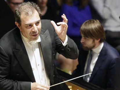 El maestro italiano Daniele Gatti, en un concierto con la Orquesta de Concertgebouw.