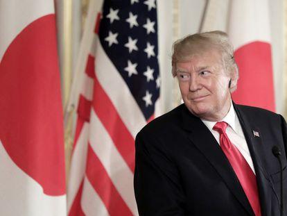 El presidente de EE UU, Donald Trump, durante su visita de Estado a Japón.