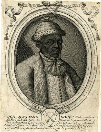 Retrato del embajador de Allada, en el actual Benín, en la corte de Luis XIV.