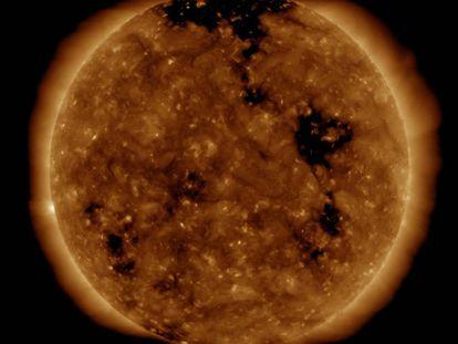 Aspecto del Sol el 27 de septiembre de 2019, dos días antes del apagón.